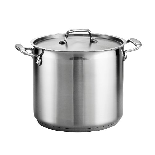 Tramontina 80120/000DS Stock Pot, 12-Quart, stainless steel