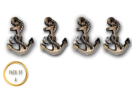 (Cast Iron Nautical Anchor Drawer Knobs & pulls Set of 4)