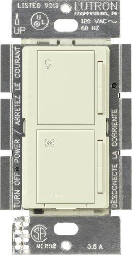 Lutron MA-ALFQ35-BI Maestro Multi-Location Digital Companion Dimmer and Quiet Fan Control, Biscuit