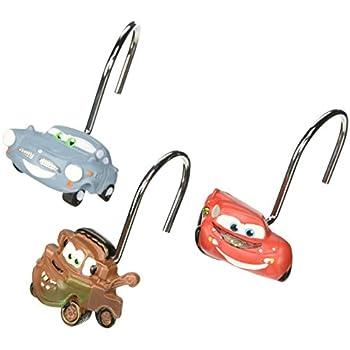 Amazon Com Disney Pixar Cars Set Of 12 Shower Curtain