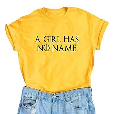 YEXIPO A Girl Has No Name Shirt Women Short Sleeve Summer Funny T Shirts Cute Graphic Tees Tops