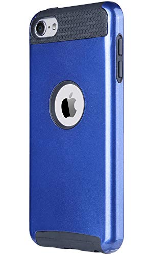 ,Blue iPod Touch 5/6th Generation Case, Dual Layer Slim Protective Hybrid iPod Touch Case Hard PC Cover for Apple iPod Touch 5 6th Generation-Navy Blue/Black ()