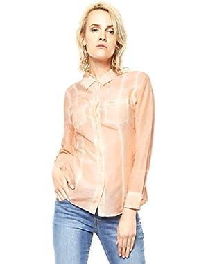 Guess Women's Cotton/Silk Patch Pocket Shirt!
