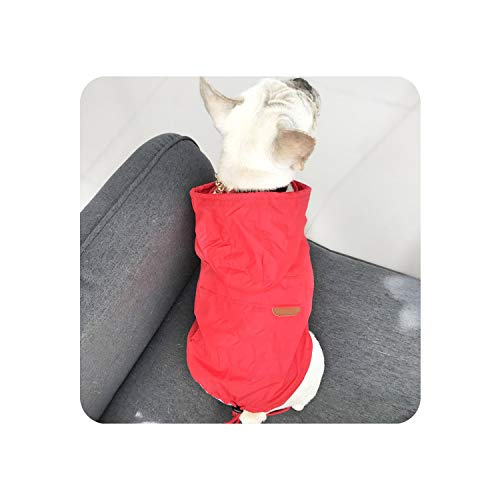 Encounter_meet Waterproof Dog Clothes for Small Dogs Jacket Raincoat for Bulldog Pet Dog Coat Bulldog Costume,Red,4XL]()