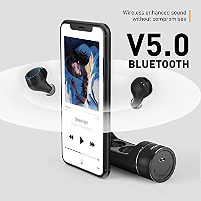 Wireless Earbuds, iyesku YK-T02 Latest Bluetooth 5.0 True Wireless Bluetooth Earbuds 12H Playtime 3D Stereo Sound Wireless Headphone…