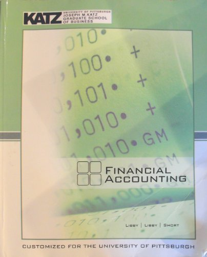 Financial Accounting (Customized for the University of Pittsburgh)