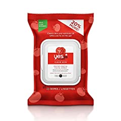 Yes To Tomatoes Clear Skin Acne Blemish Clearing Facial Towelettes 98% Natural .Tomatoes contain Lycopene, a powerful anti-oxidant that helps protect skin from, al agents that can contribute to clogged pores and breakouts. Fruit acids to help...