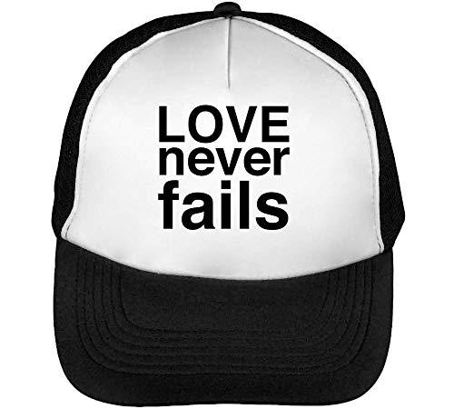 Never Fails Gorras Hombre Snapback Beisbol Negro Blanco