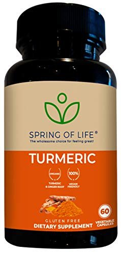 Spring of Life Turmeric Curcumin with Bioperine 1500mg - with 95% Curcuminoids - Extra Strength Formula for Maximum Absorption, Joint Comfort & Mobility - Gluten Free - 60 Veggie Caps
