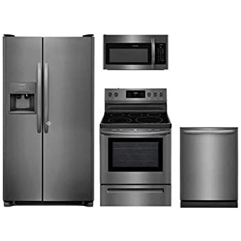 Amazon Com Frigidaire 4 Piece Black Stainless Steel