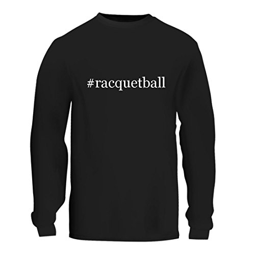 #racquetball - A Nice Hashtag Men's Long Sleeve T-Shirt Shirt, Black, Large