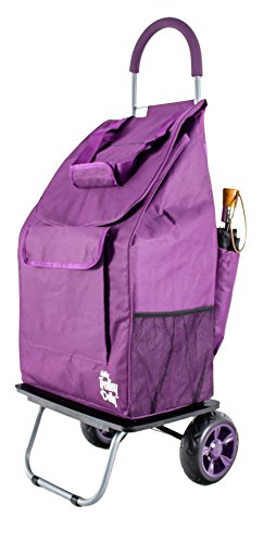 dbest products Bigger Trolley Dolly, Purple Shopping Grocery Foldable cart