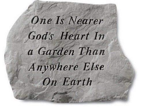 Nearer Gods Heart - One Is Nearer God'S Heart Memorial Garden Stone