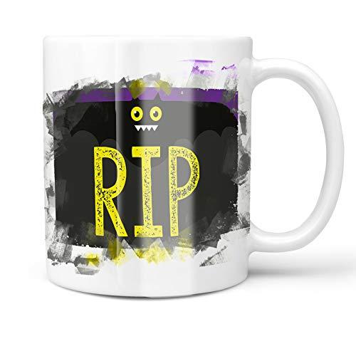 Neonblond 11oz Coffee Mug RIP Halloween Funny Bat