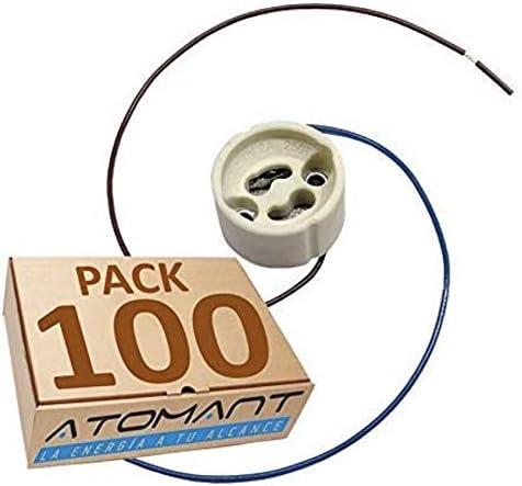 Pack Portalamparas para Gu10 con Cable Extralargo 20 Centimetros. color blanco, Standard. (Pack 100x): Amazon.es: Iluminación