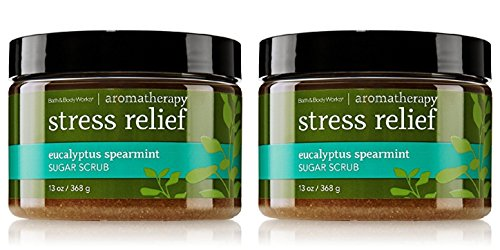 - Bath & Body Works Aromatherapy Stress Relief Eucalyptus Spearmint Sugar Body Scrub with Body Scrub with Essential Oils (2 Pack)