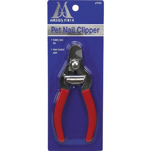 Millers Forge Steel Pet Nail Clipper 743C with Safety Stop Bar Small Medium Dog ()