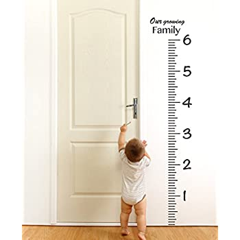 giant vinyl growth chart kit kids diy height wall ruler large measuring tape sticker number