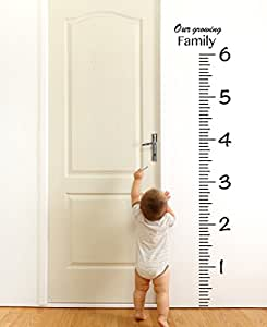 giant vinyl growth chart kit kids diy height. Black Bedroom Furniture Sets. Home Design Ideas