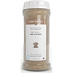 Pet Fleas Are History - 100% Natural Flea and Tick Prevention Powder for Dogs and Cats - Spray and Collar Alternative - Eco-friendly and Family Safe (4.16 oz)