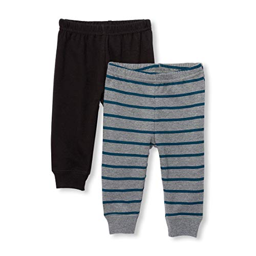 The Children's Place Baby Boys Basic Pant Set, Heather/T Hound 9-12MOS