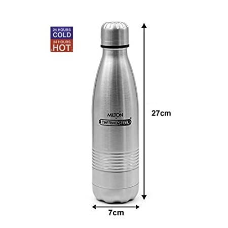 Milton Thermosteel Duo 500 Dlx Bottle, 500ml, Steel by Milton: Amazon.es: Deportes y aire libre