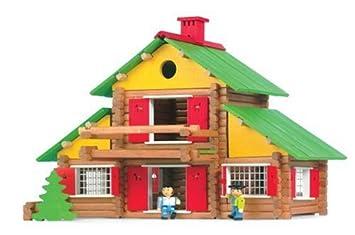 jeujura jouet en bois chalet suisse  pieces