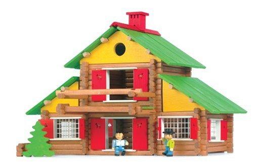 Jeujura jouet en bois chalet suisse pieces amazon