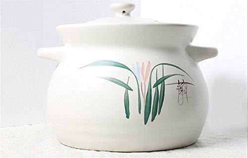 Uniware Heavy Duty Heat Proof Ceramic Pot, White, )