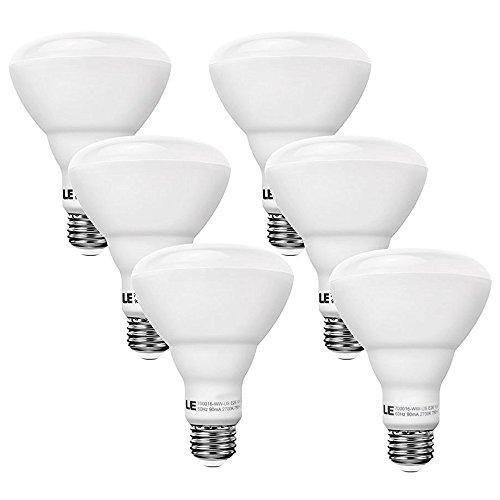 LE 6 Pack 65W Incandescent Bulb Equivalent, 10W Dimmable BR30 LED Bulbs, 750lm, Warm White, 2700K, 110° Flood Beam, E26 Medium Base, LED Indoor Flood Light Bulbs, LED Light Bulbs