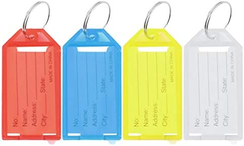 fgjhfghfjghj 1Pc Kunststoff-Schlüsselanhänger Schlüsselringe ID-Identitätsanhänger Rack Name Card Label NEU Vier Farben erhältlich