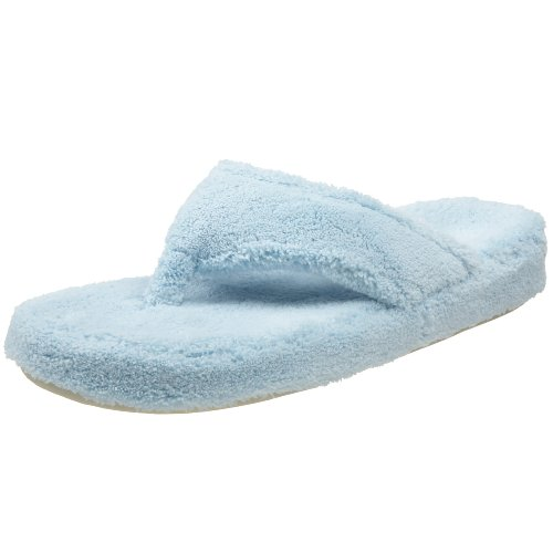 Acorn Women's Spa Thong Slipper, Powder Blue, Small / 5-6 B(M) US