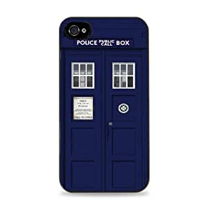 Dr Who Callbox Tardis Black 2-in-1 Protective Case with Silicone Insert for Apple iPhone 5 / 6 4.7