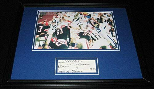 Signed Deacon Jones Photograph - Framed 11x14 Display - Autographed NFL Photos ()