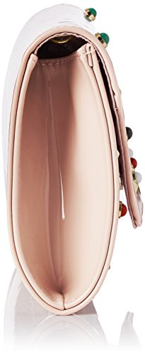 Swanky Swans Valencia Patent Leather Clutch - Carteras de mano Mujer Rosa (Pink)