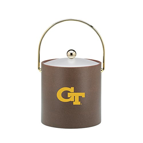 Ice Bucket Tech (Kraftware Collegiate NCAA Georgia Tech Yellow Jackets Football Texture Ice Bucket, 3-Quart)