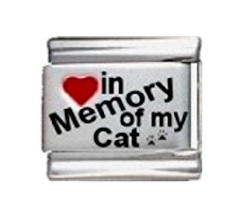 Stylysh Charms in Memory CAT PET PAW RH Laser Italian 9mm Link IM037 -