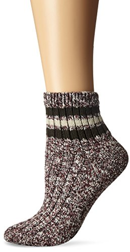 Classics Textured Charcoal (Wigwam Women's Mar-Lee Classic Rag Textured Quarter Socks, Rouge/Charcoal, Medium)