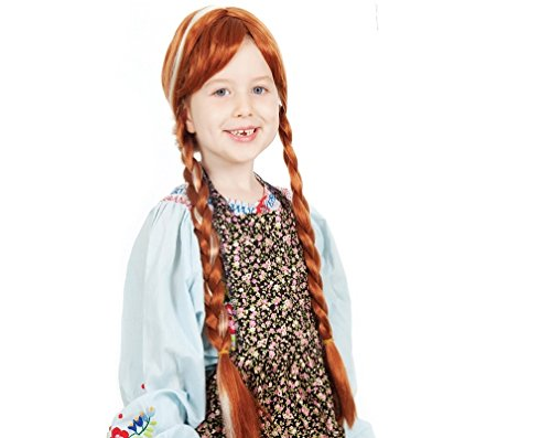 Frozen Snow Child Cosplay Anna Wig High Quality Synthetic Hair Brown Color