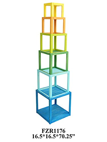 Review Crestview Collection Columbia Colorful Stackable Etagere By Crestview Collection by Crestview Collection