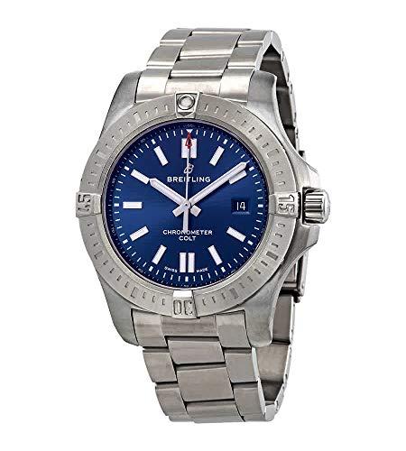 Breitling Chronomat Colt Automatic 44 Blue Dial Men's Watch A17388101C1A1