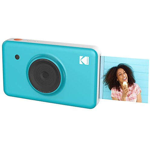Kodak Mini SHOT Wireless 2 in 1 Instant Print Digital Camera & Printer With LCD Display w/4PASS Patented Printing Technology (Blue) - Real Ink in an Insatnt from Kodak