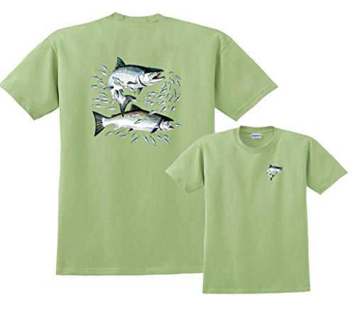 Sockeye Salmon Fishing (Fair Game Salmon Sockeye Fish Fishing T-Shirt-Pistachio-3x)