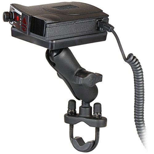 RAM-B-149Z-300-1U Motorcycle Bike Mount w/ Power Plate III Radar Detector Holder