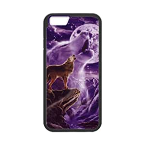 """T-TGL(RQ) Customized Wolf and Moon Pattern Protective Cover Case for Iphone6 Plus 5.5"""""""