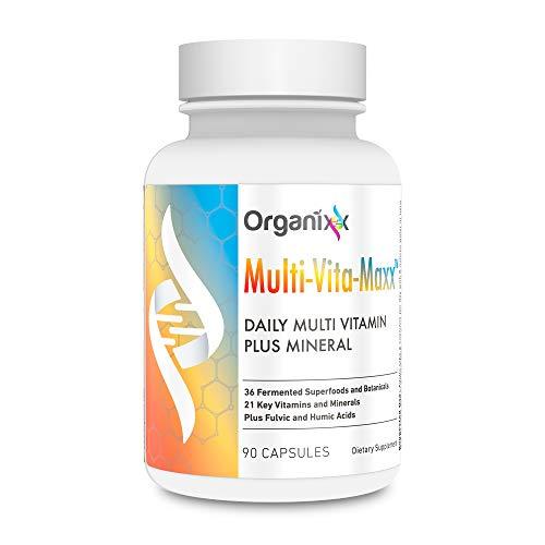 Whole Foods Vitamin - Multivitamin for Men and Women - B12, Calcium, Vitamin D, Vitamin C and More - Plus 36 Superfoods in 1 - Multi-Vita-Maxx by Organixx (90 Capsules)