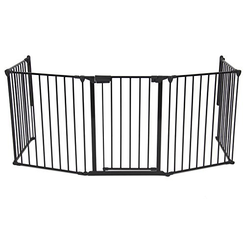Baby Safety Fence Hearth Gate BBQ Fire Gate Fireplace Metal Plastic