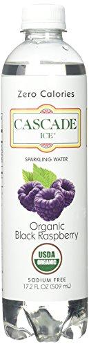 Cascade Ice Organic Sparkling Water, Black Raspberry, 17.2 Fl. Oz  (Pack of 12)