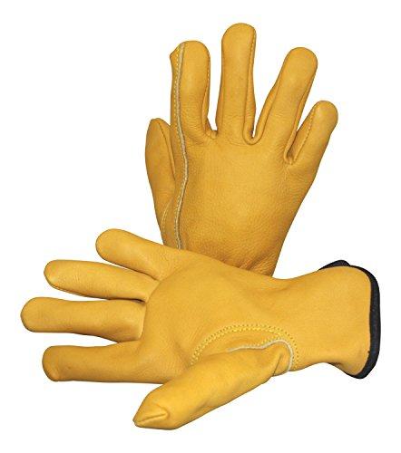 Suse's Kinder Kids Leather Work Gloves Ages 9-11, (Youth Gauntlet Gloves)