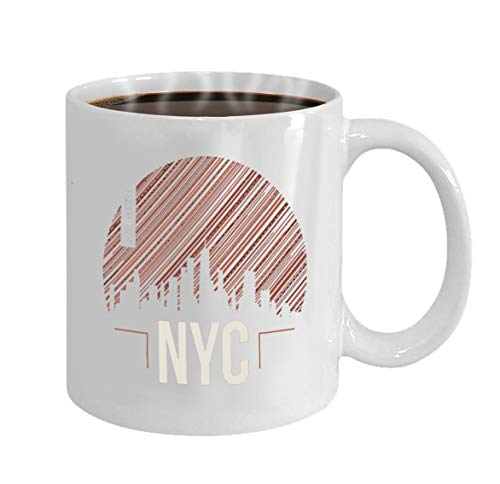 Funny Gifts for Halloween Party Gift Coffee Mug Tea new york city graphic design print typography -